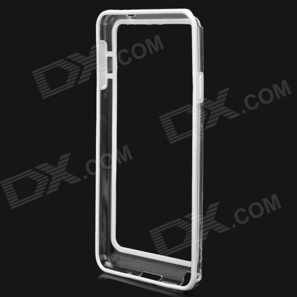 Protective Plastic Bumper Frame for Samsung Galaxy Note3 - White + Transparent high quality plastic protective bumper frame for samsung galaxy s5 purple