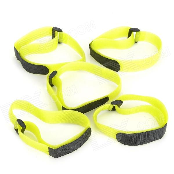 Buckle Velcro Bundling Belt Strap - Yellow Green (20 x 400mm / 5 PCS) - DXLifestyle Gadgets<br>Brand N/A Model N/A Quantity 5 piece(s) per pack Color Yellow green Material Nylon Specification Mainly used for banding booksYoga mat and luggage goods etc . Packing List 5 x Velcro straps<br>