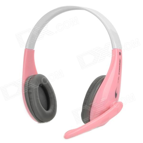 Cosonic CT-650 Fashion Headphone w/ Mic - Pink + White + Grey the white guard