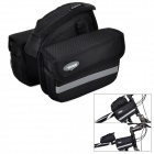 VSHENG V-002Handy Water Resistant 1680D Oxford Fabric Saddle Bag for Bicycle - Black