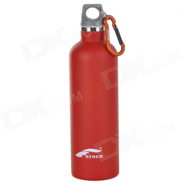 Ryder N1005 Outdoor Dual-layer Stainless Steel + ABS Water Bottle - Red (600ml) 41 5kw raw water to distilled water aisi316l stainless steel plate heat exchanger replace kaori model km200 60