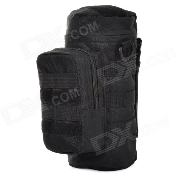 SW3071 Multifunctional Outdoor 600D Nylon Water Bottle Bag - Black