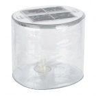 XSK-L06 Foldable Solar Powered Lantern with Big Impact - Silver + Transparent White
