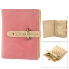 Women's Fashion PU Leather Folding Wallet - Pink