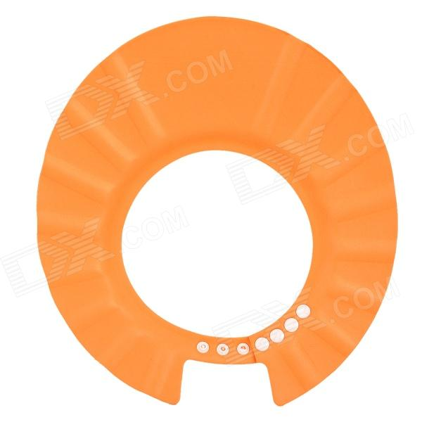 Adjustable Soft EVA Resin Bathing Cap for Baby Kids - Orange