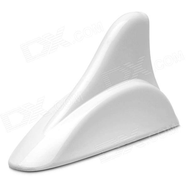 Cool Universal Decorative Shark Fin Style Decorative Dummy Antenn for Cars - White цена