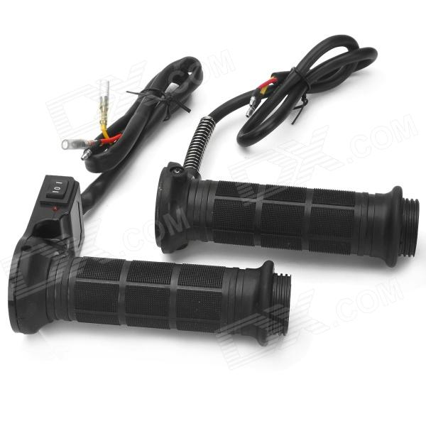 DIY Electric Heating Warm Handle Grip for Motorcycle - Black (2 PCS)