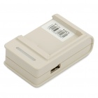 External Cell Phone Battery Charger with USB Power Port for HTC Touch HD - Black/White (110V~220V)
