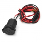 20127 DIY Car Cigarette Lighter Power Plug w/ 1.2m Wire for Car / Motrocycle - Black + Red