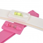 Bang / Hair Razor Trimming Cutter Clip / Rotating Level - White + Pink