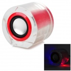 JLJ-MS-68 Portable Rechargeable 2.1-Channel Speaker w/ FM / TF - Red + Translucent + Silver