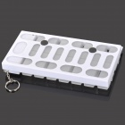 "1.1"" LCD Electronic 7-Compartment Medicine Case - White + Translucent + Black"