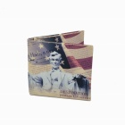 Abraham Lincoln Folding Canvas Wallet - Yellow + Red