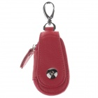 S-8321 PU Leather Zipper Car Key Holder Case Bag - Red