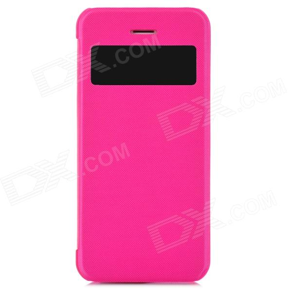 Protective Plastic Case w/ Window for Iphone 5S - Deep Pink protective plastic case w window for iphone 5s deep pink