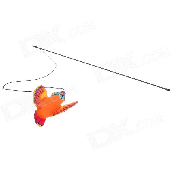 Flying Bird Toy : Colorful flying bird style rod stick toy for pet cat