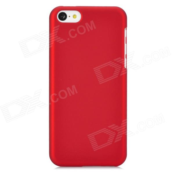 Protective PC Back Case for Iphone 5C - Red elegance tpu pc hybrid back case with kickstand for iphone 7 plus 5 5 inch red