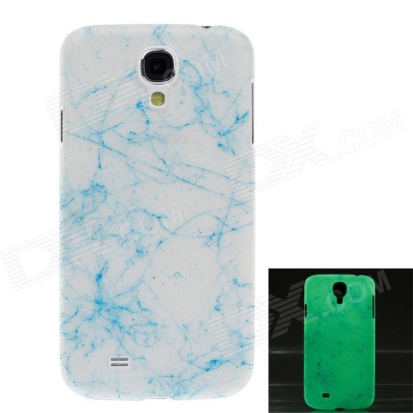 Glow-in-the-Dark Crack Style Plastic Back Case for Samsung S4 i9500 - Blue + White napapijri guji check dark blue