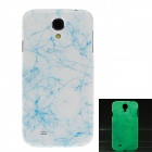Glow-in-the-Dark Crack Style Plastic Back Case for Samsung S4 i9500 - Blue + White