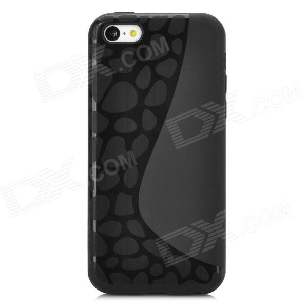 Y-4-5-5 Protective TPU Full Body Case for Iphone 5C - Black glossy candy jelly tpu case for iphone 7 4 7 inch black