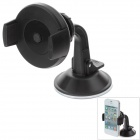 "Universal 2.3""~5.5"" 360 Degree Rotation Plastic Car Mount Holder for Mobile Phone - Black"
