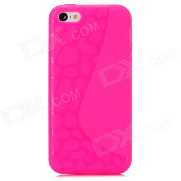 Y-4-5-1 Protective TPU Full Body Case for Iphone 5C - Pink tteoobl t 03c protective tpu waterproof bag for iphone 4 4s 5 5s pink