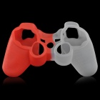 Protective Silicone Case for PS3 Controller - Red + White