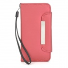 Protective PU Leather Case w/ Card Holder Slots for Iphone 5C - Red