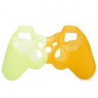 Protective Silicone Case for PS3 Controller - Green + Orange
