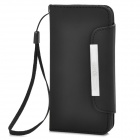 Protective PU Leather Case w/ Card Slots for Iphone 5C - Black
