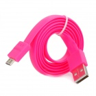 Ebai USB 2.0 Male to Micro USB Male Data Charging Flat Cable - Deep Pink (80cm)