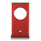 Stylish  Inlaid Sparkling Crystal  PC Back Case for Nokia Lumia 1020 - Red + Silver