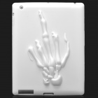 3D Skeleton Hand Pattern Protective Soft Silicone Case  for Ipad 2 / 3 /  4 - White