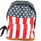 United States National Flag Backpack - Red + Blue + Black + White