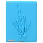 3D Skeleton Hand Pattern Protective Soft Silicone Case  for Ipad 2 / Ipad 3 / Ipad 4 - Blue