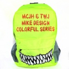 Monster Style Casual Backpack - Yellowish Green