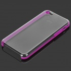 Protective Plastic Back Case for Iphone 5C - Deep Pink + Transparent