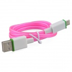 Luminous USB Male to Micro USB Male Charging Data Sync Cable for Samsung, HTC + More - Pink (93cm)