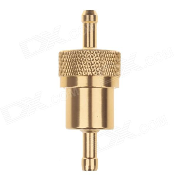 Universal Aluminium Alloy Motorcycle Modification Car Fuel Filter - Golden