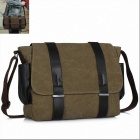 K-930 Fashion Students Shoulder Canvas Bag - Brown