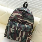 Recreational Canvas Backpack - Camouflage Green