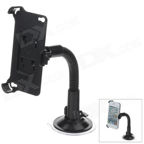 360 Degree Rotation Holder Mount w/ H20 Suction Cup for Iphone 4 / 4S - Black h08 360 rotation 4 port suction cup holder w silicone back clip for iphone 4 4s 5 ipad mini ipod