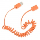 CA-18 USB 2.0 Female to Male Spring Extension Cable - Orange