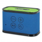 iMarku Q7 Bluetooth v3.0 Hi-Fi Bass 2-CH Speaker w/ Microphone - Blue + Green + Black