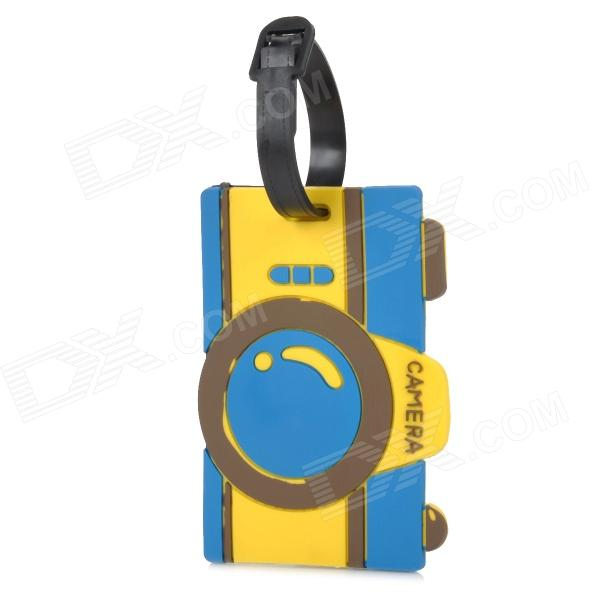 Stylish Camera Pattern PVC Luggage Tag - Yellow + Blue