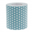Novelty Polka Dot Pattern Toilet Paper 3-Layer Roll Tissue - White + Blue
