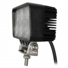 LML-1518 18W 6000K 1350lm 6-LED White Light Ultrathin LED Offroad Spot Beam Lamp - Black (DC10-30V)