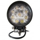 LML-0627 27W 6000K 2025lm 9-LED White Light Ultrathin LED Offroad Spot Beam Lamp - Black (DC10-30V)