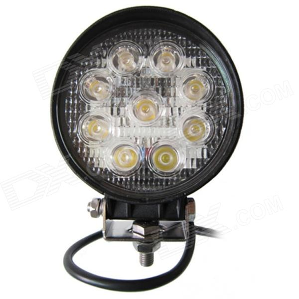LML-0627B 27W 6000K 1890lm 9-LED White Light Ultrathin LED Offroad Spot Beam Lamp - Black (DC10-30V)