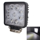 LML-0727 27W 6000K 2025lm 9-LED White Light Ultrathin LED Offroad Astigmatism Beam Lamp - Black